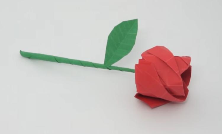 Cara Membuat Origami Bunga Mawar yang Mudah dan Mirip ...