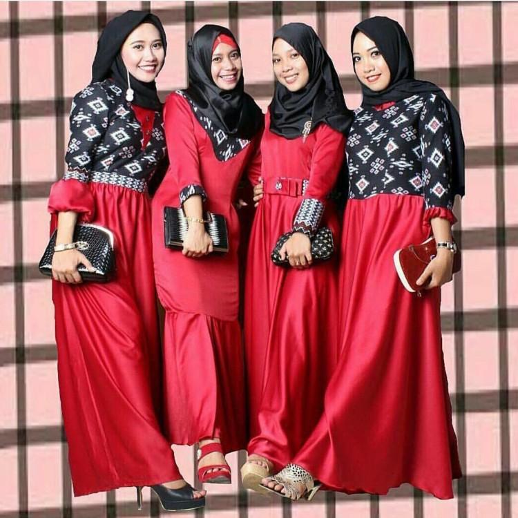 Model Baju Batik Kombinasi Terbaru dengan Desain yang ...